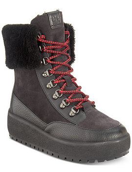 Tyler Foldover Shearling Winter Boots by Coach