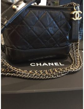 Bnib **Authentic** Chanel's Gabrielle Small Hobo Black Aged Calfskin Ends 6 Nov by Ebay Seller