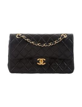 Women's Metallic Vintage Classic Small Double Flap Bag Black by Chanel