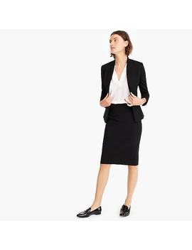 No. 2 Pencil Skirt In Stretch Twill by J.Crew