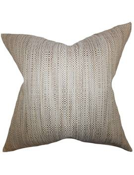 Zebulun Woven Floor Pillow Neutral by The Pillow Collection