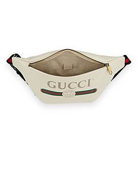 Logo Leather Belt Bag by Gucci