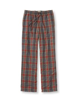 Scotch Plaid Flannel Sleep Pants, Fleece Lined by L.L.Bean