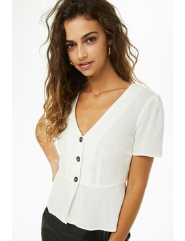 Flounce Button Front Top by Forever 21