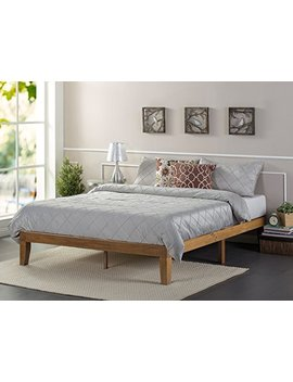 Zinus 12 Inch Wood Platform Bed/No Boxspring Needed/Wood Slat Support/Rustic Pine Finish, Full by Zinus