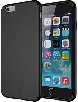 """I Phone 6s Case, Diztronic Full Matte Soft Touch Slim Fit Flexible Tpu Case For Apple I Phone 6 & I Phone 6s (4.7"""")   Black by Diztronic"""