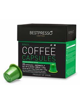 Bestpresso Coffee Capsules  20 Pod Ristretto Blend(High Intensity)   For Original Line Nespresso Machine Brand  Certified Genuine Espresso 60 Days... by Bestpresso