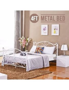 4 Ft Metal Bed Frame Small Double Bedstead Bedroom Bed Frame With Crystal New by Ebay Seller