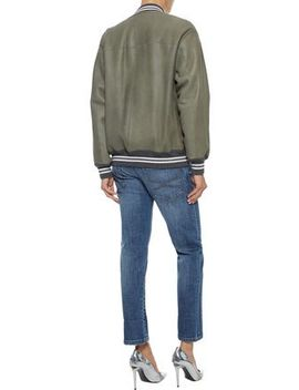 Metallic Trimmed Shearling Jacket by Brunello Cucinelli