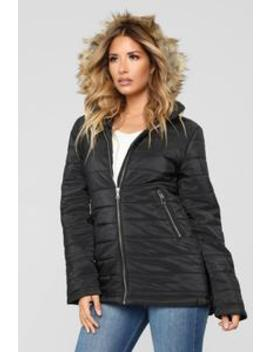 Time For An Adventure Puffer Jacket   Black by Fashion Nova