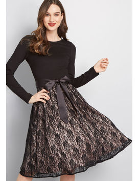 Go With Grace Long Sleeve Dress by Modcloth