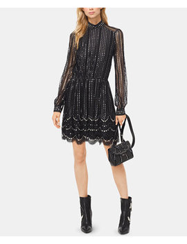 Metallic Embroidered Lace Dress by Michael Michael Kors