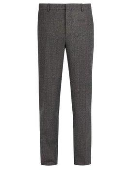 Straight Leg Wool Trousers by Prada