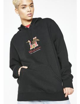 X Budweiser Eagle Pullover Hoodie by Huf