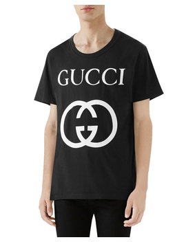 Men's Wrinkle Logo T Shirt by Gucci