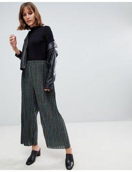 Glamorous Pants In Rainbow Stripe Plisse by Glamorous