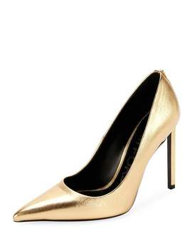 Laminated Leather 105mm Pumps by Tom Ford