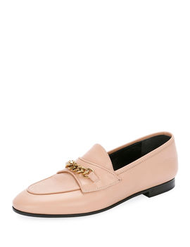 Leather Loafers With Chain Detail by Tom Ford