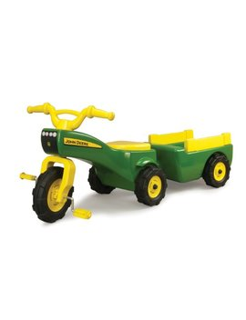 John Deere Pedal Tractor And Wagon by Tomy
