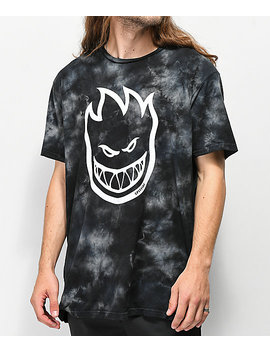 Spitfire Bighead Black Washed T Shirt by Spitfire