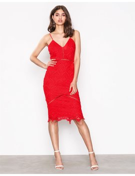 Lace Ladder Detail Midi Dress by Missguided