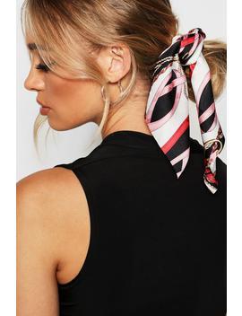 Chain Pattern Scarf Scrunchie Hair Tie by Boohoo