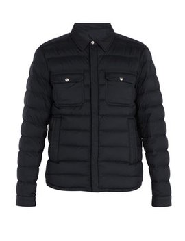 Caph Quilted Down Shirt Jacket by Moncler