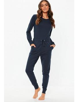 Navy Loungewear Jumpsuit by Missguided