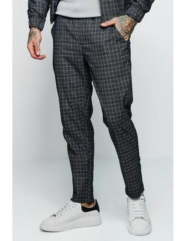 Jaspe Check Smart Taped Cuffed Jogger Co Ord by Boohoo