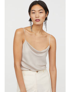 Draped Strappy Top by H&M