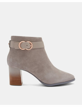 Block Heel Suede Boots by Ted Baker