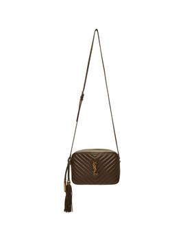 Brown Medium Lou Camera Bag by Saint Laurent