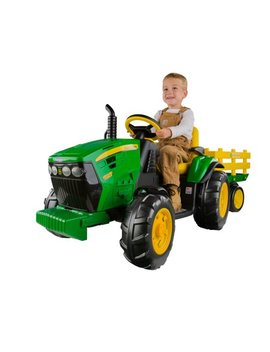 Peg Perego John Deere Ground Force 12 Volt Tractor Ride On by Peg Perego