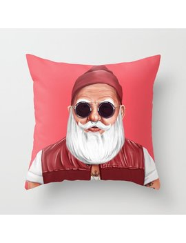 Hipstory    Santa Claus Throw Pillow by