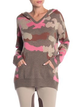 Camouflage Pullover Hooded Sweater by Vertigo