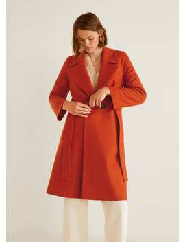 Пальто с пуговицами, шерсть by Mango