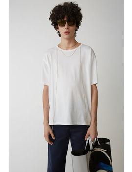 T Shirt Mit Rundhalsausschnitt Optisches Weiß by Acne Studios