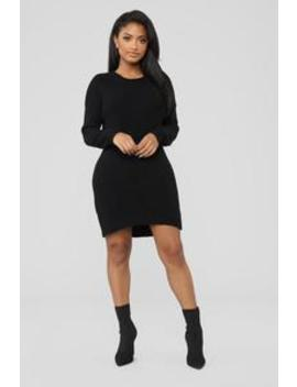 I'm With You Sweater Dress   Black by Fashion Nova