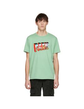 Green 'paris Texas' T Shirt by Bianca Chandon
