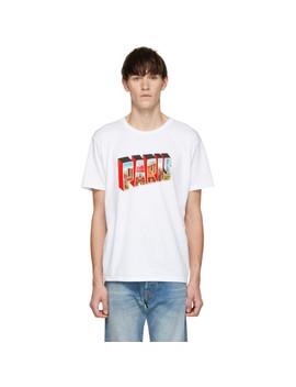 White 'paris Texas' T Shirt by Bianca Chandon