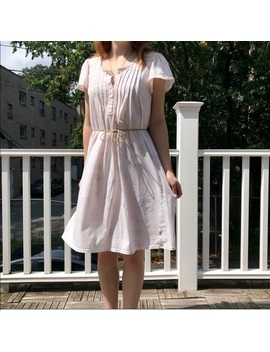 Watercolor Floral Babydoll Dress by Vintage