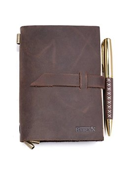 Handmade Leather Notebook Journal – Refillable Notepad For Men & Women To Write In For Daily Use & Travel – Ideal For Gifts, Fountain Pen Writing, Diary   Personal &, Notebooks & Journals by Bargain