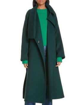 Belted Wool Blend Cozy Coat by Vince
