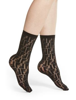 Double F Logo Crew Socks by Fendi