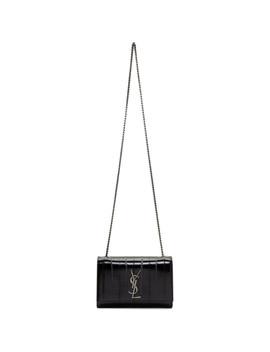 Black Eel Small Kate Monogramme Bag by Saint Laurent