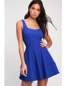Home Before Daylight Royal Blue Dress by Lulus