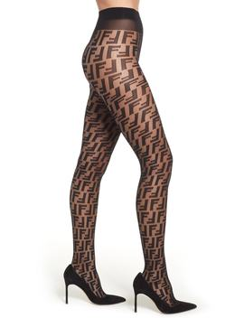 Double F Logo Tights by Fendi