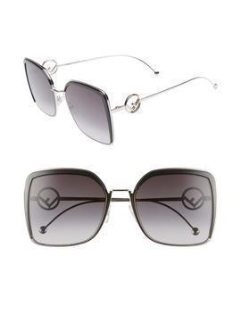 58mm Square Sunglasses by Fendi