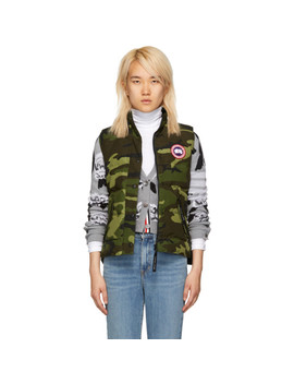 Green Camo Freestyle Down Vest by Canada Goose
