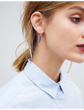 Orelia Gold Plated Blue Single Horn Charm Earring by Orelia